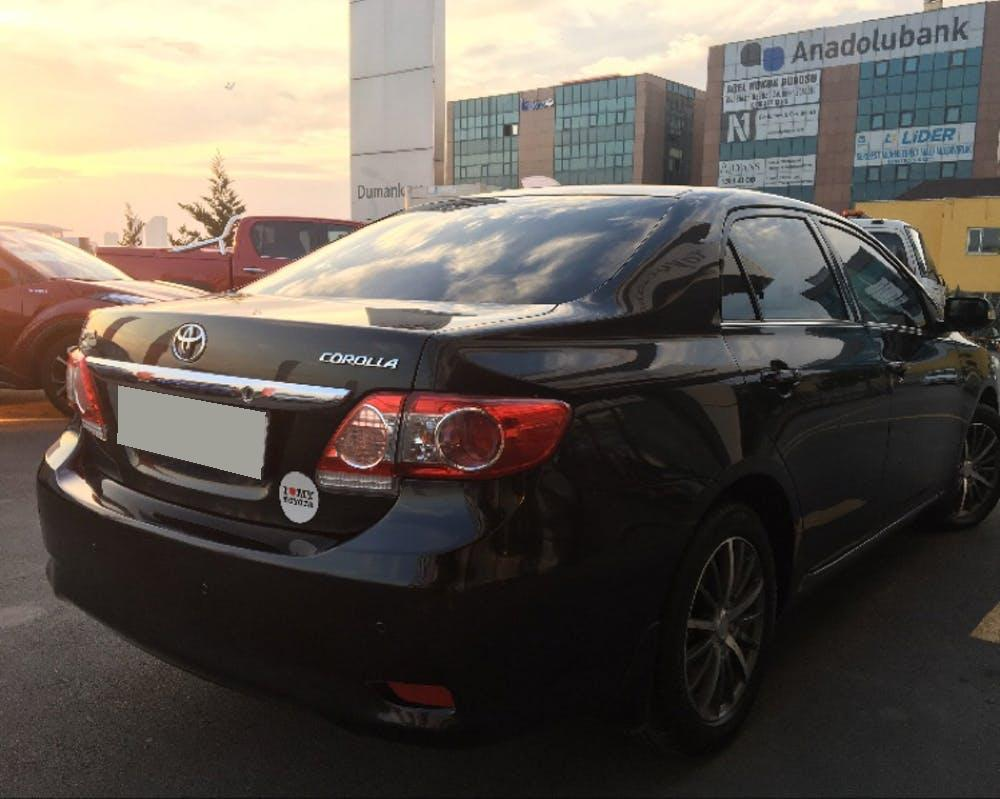 TOYOTA Corolla 2011 Model LPG Otomatik Vites Kiralik Araç - 3215